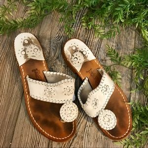 jack rogers // boho white navajo slides sandals 5m